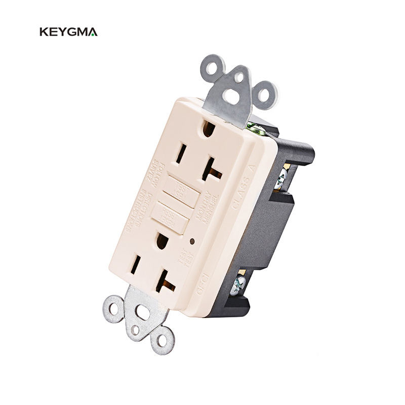 Keygma <span class=keywords><strong>GFCI</strong></span> Outlet 220V 20Amp Receptacle With Test And Reset