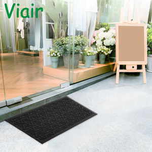 super absorbent clean step indoor doormat Rubber Doormat Non-Slip Washable Welcome Mat for Front Porch Entrance