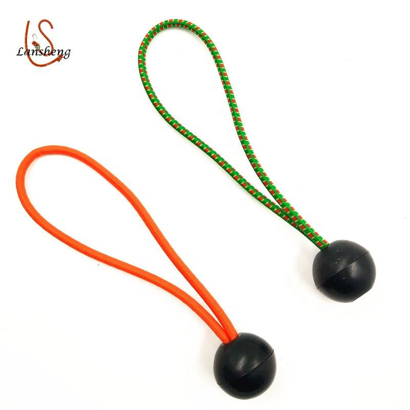 4mm 10inch Heavy Duty plastic ball bungee for tarp