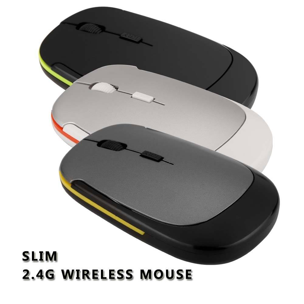 2.4G Mini USB Wireless Optical Mouse Rato bonito para o presente de Natal