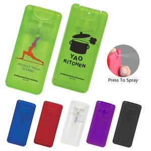 Promotional personal care travel flat rectangle pocket refillable private label plastic mini hand spray