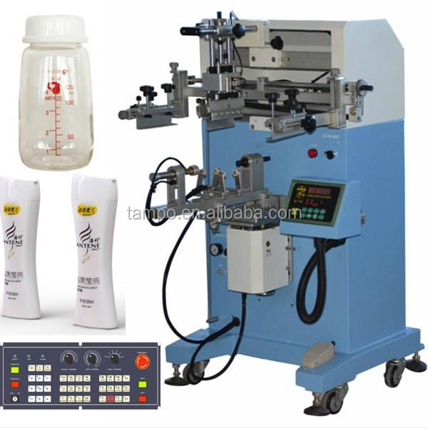 Plane And Cylinder Screen Printing Machine For Plastic Shampoo Bottle Cups Serigraphia