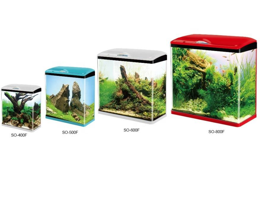 SOBO SO-300F/400F/500F/600F/800F with rounded corners mini fish tank