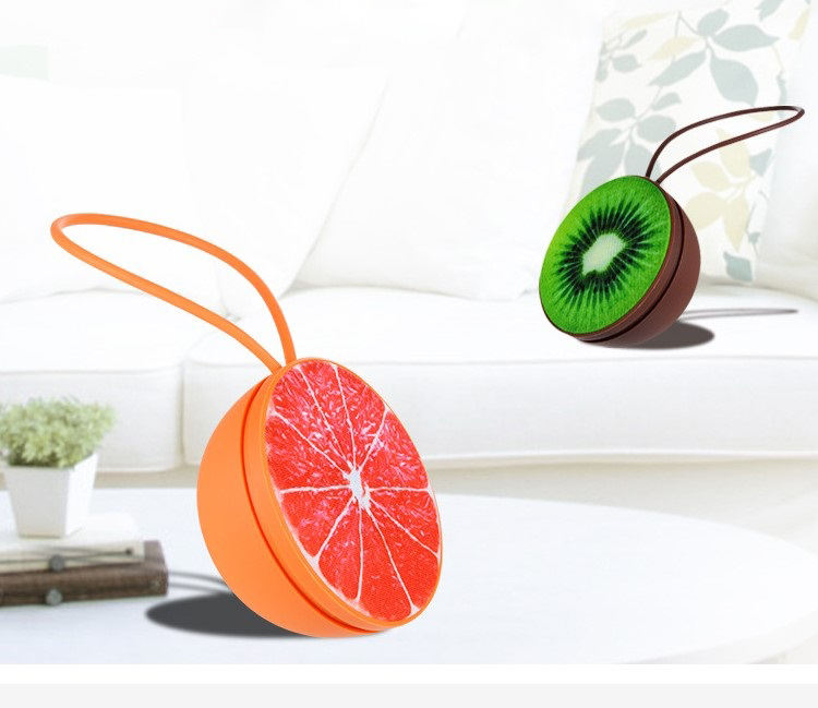 2018 Fruit Shape Wireless Rohs Speaker Cute Mini Speaker 3W Subwoofer Speaker