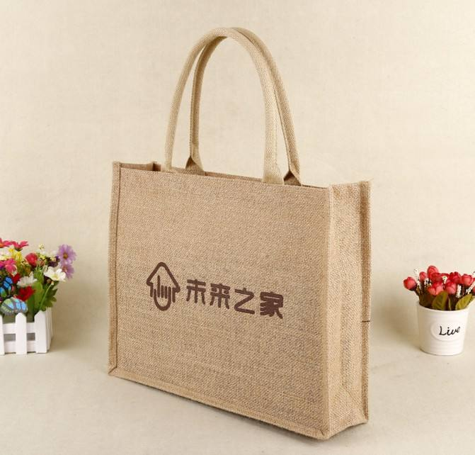 Ruiding 2019 Hot Selling Wholesale Reusable Foldable Customized Printing Reusable Jute Tote Bags,Custom bag