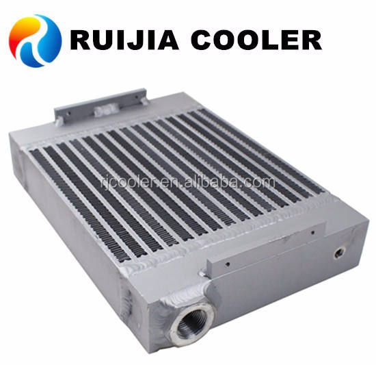 Hydraulic oil to air heat plate exchanger aluminum radiator