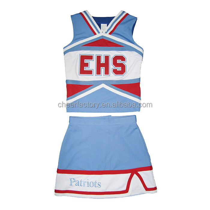 wholesale custom girl fashion cheerleader clothes girls uniform with high quality