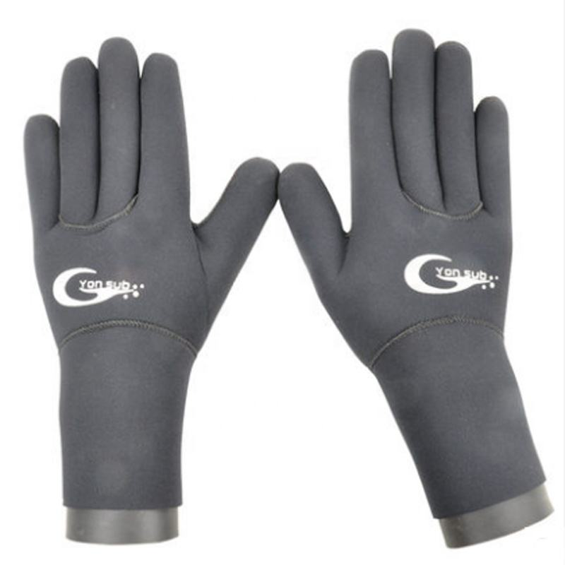 Black color 3mm waterproof neoprene diving gloves
