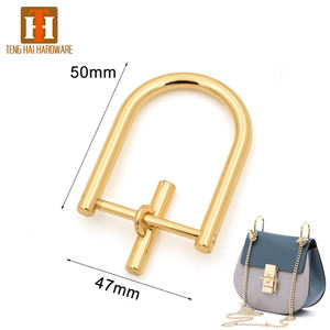 Bag handle hardware metal removable D ring for handbag