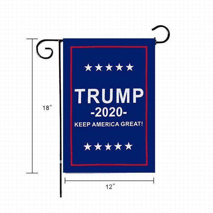 12*18inch Outdoor Polyester President Donald Election 2020 America Trump Garden Flag