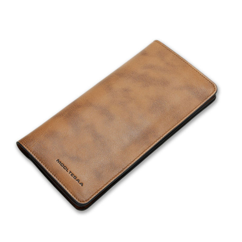 Men Wallets Famous Brand Long Wallet With Flip Up Id Window Purse Male Money Purses With Card Bag