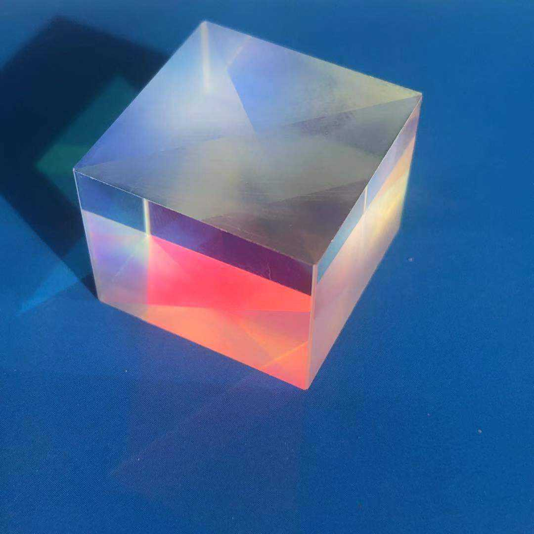 polarization beam splitter cube spectral optical glass prism for sale