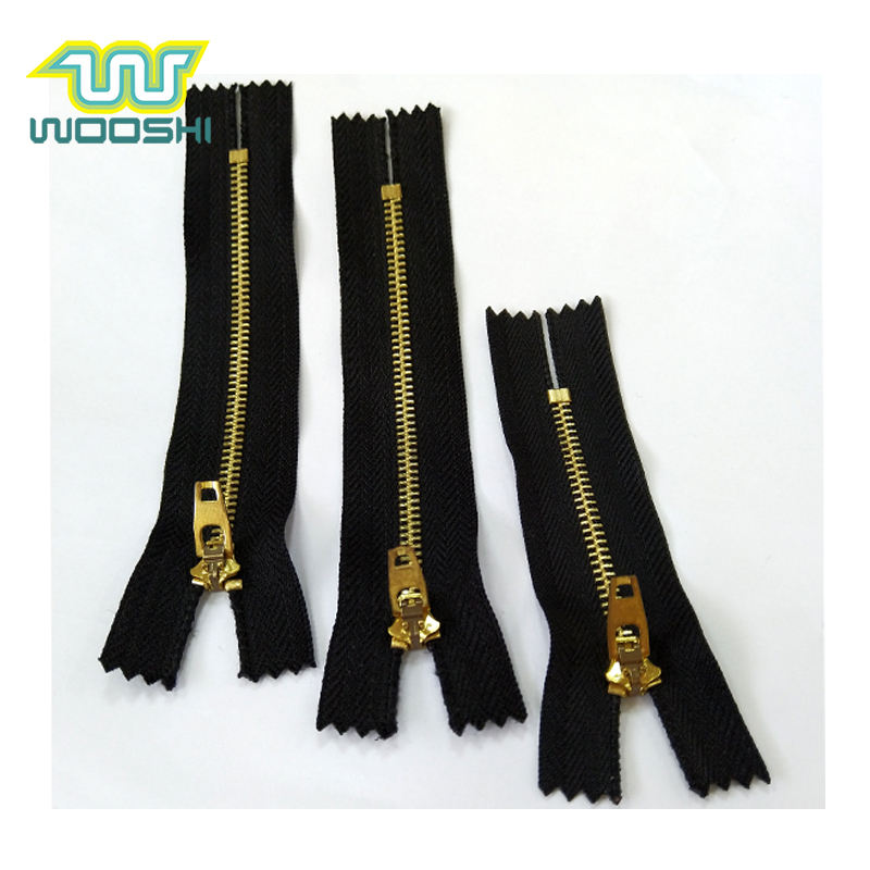 Hot selling 4# brass jeans zipper C/E with YG slider