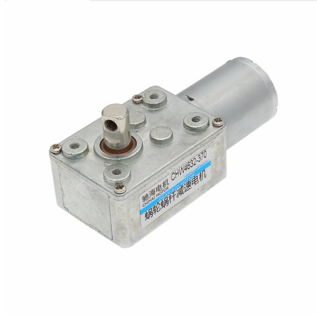 CHW4632-370-1665 magnétique permanent <span class=keywords><strong>r</strong></span>éducteur à vis sans fin moteur hors tension autobloquant 12V2. 8rpm 6v1. 4 tr/min