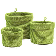 Simple round crocheting basket for miscellaneous things