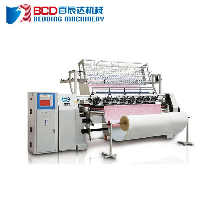 China shuttle computerized multi-needle quilting machine price