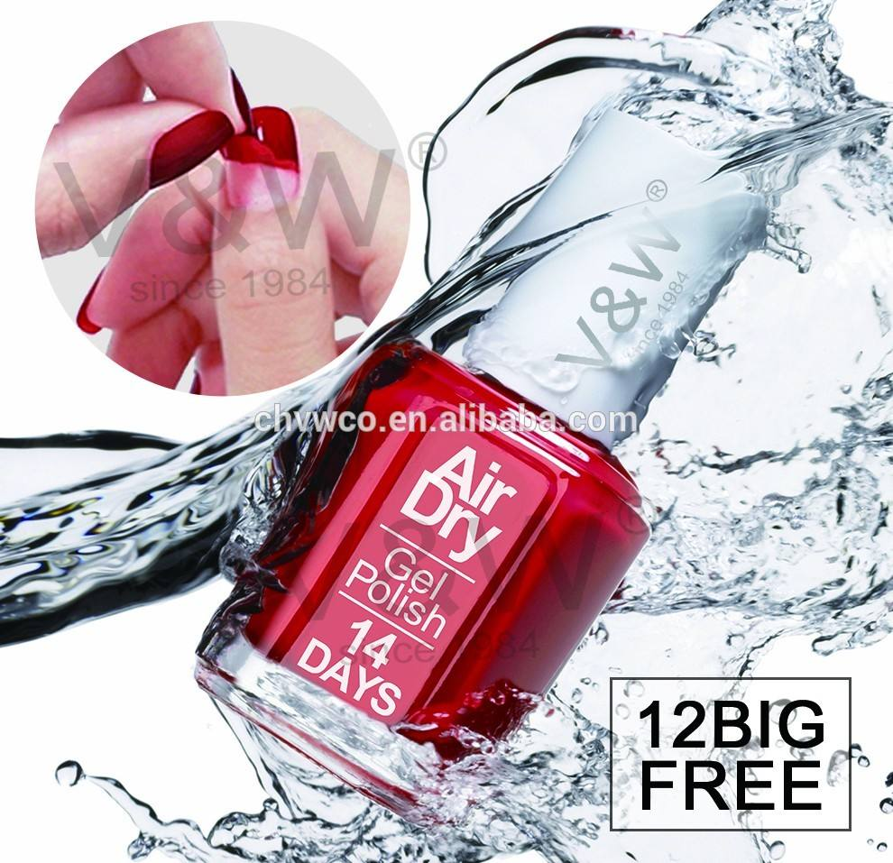 Nail art designs long lasting air dry coat mini non toxic nail polish 14 days many colors