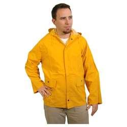 Underarm Air Vents Zipper Front Yellow  PVC leather Raincoat