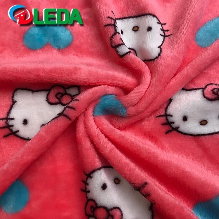 Super soft flannel fleece fabric for Blanket Pajamas Lining Bedding Home Textile