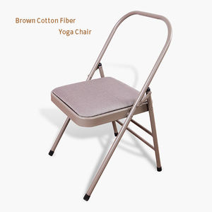 Yoga Chair Auxiliary Tool Wholesale Backless Metal Iyengar Yoga Folding Steel Chair