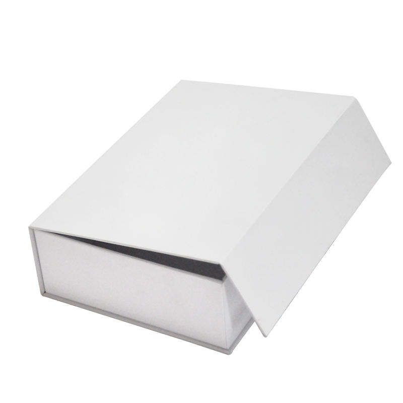 Recyclable Customized Logo Paper Box Hard Cardboard Packing White Small Luxury Magnetic Folding Gift Box Packaging