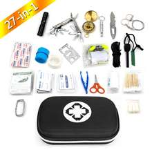 survival kit outdoor emergency small first aid kit backpack for camping & hiking