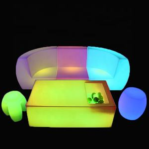 Outdoor Pe Plastic Garden Section Led Sofa