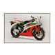 home goods wall art modern textured canvas motorcycle painting