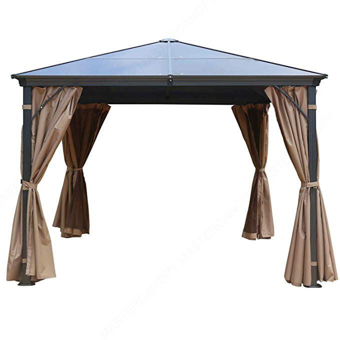 12 by 16-Feet hexagonal gazebo roof Heavy Duty Galvanized Steel Hardtop Patio Gazebo 4-Season