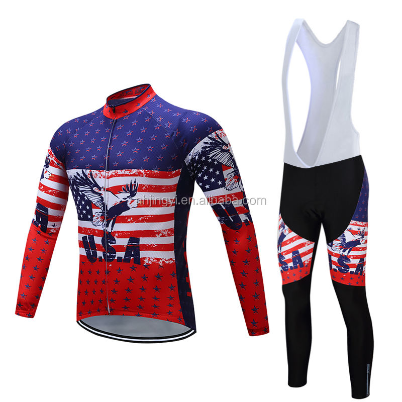 full sleeve quick dry bicycle racing sport bike uniform jersey custom cycling shirt