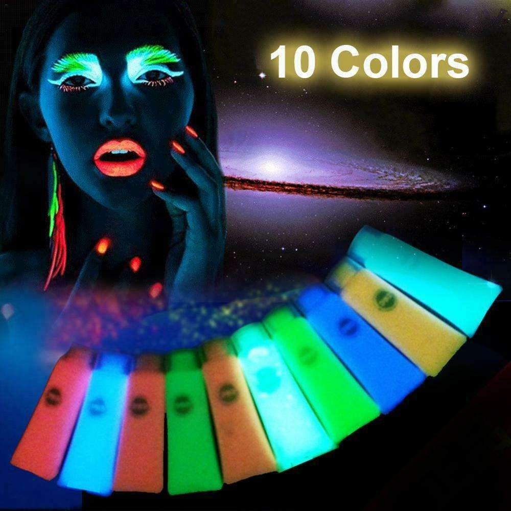 Jingxin Glow in the Dark Acrylic Luminous Paint Bright Pigment for Party Decoration DIY