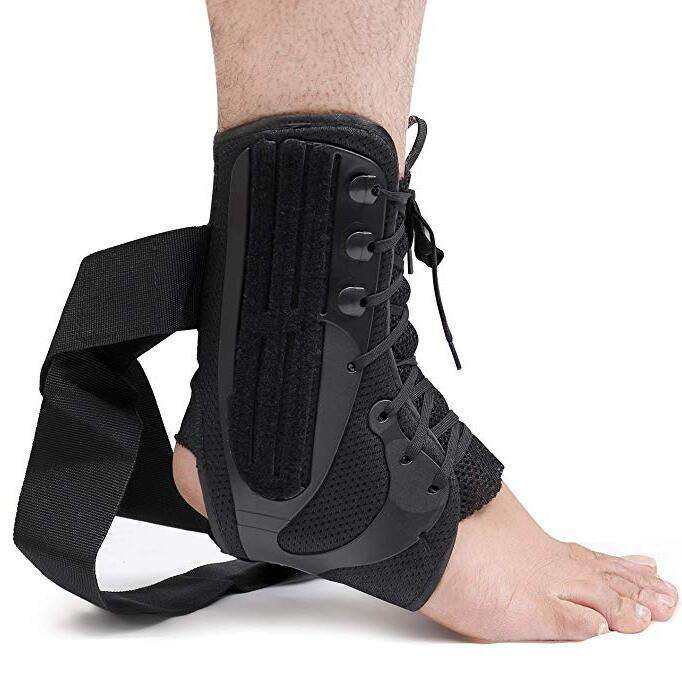 Ankle Stabilizer Support Foot Guard Compression Straps Brace Ankle Wear Lace Up Ankle Brace