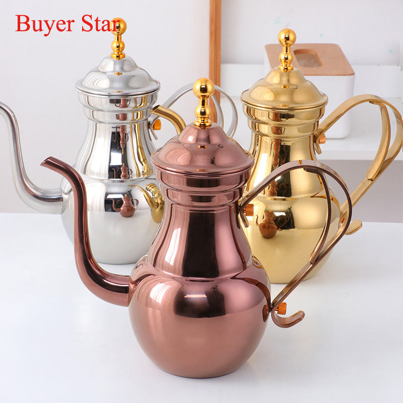 Wholesale Western High Quality Stainless Steel Colored Coffee Tea Drip Pot