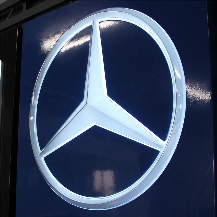 Customized design classical acrylic car logo lights for automotive signage