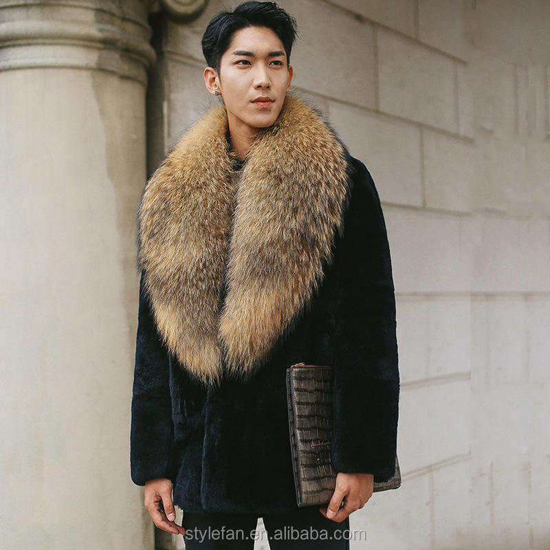 다섯 살 Reccoon man fur coat 와 (High) 저 (품질