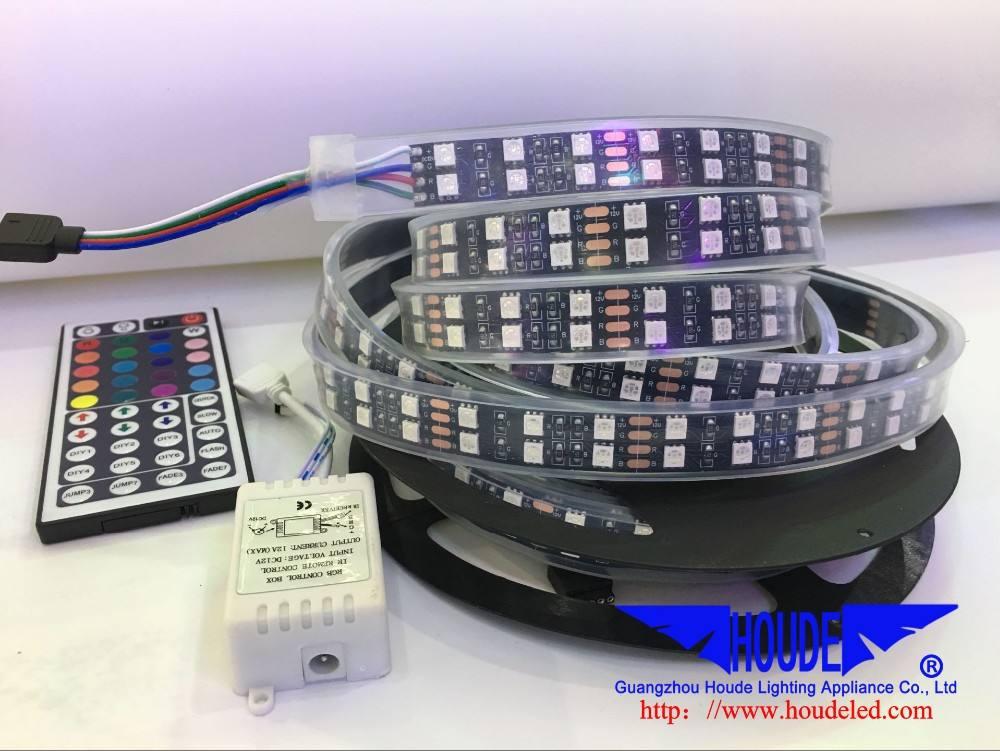 Smd5050 rgb黒pcb ledストリップ60led/mクラブ装飾衣装でled無線lanコントローラ