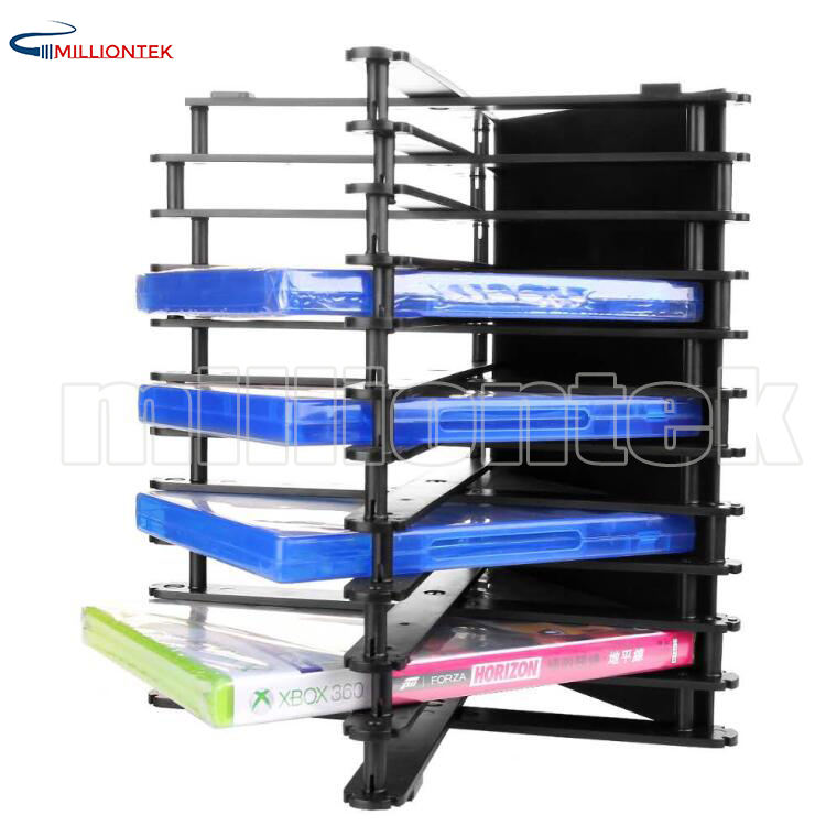 For PS4/XBOX/DVD Foldable Game DISC Rack Storage Holder