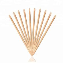 Double ended manicure and pedicure tools orange wooden nail sticks free sample manicure sticks for nail art beauty