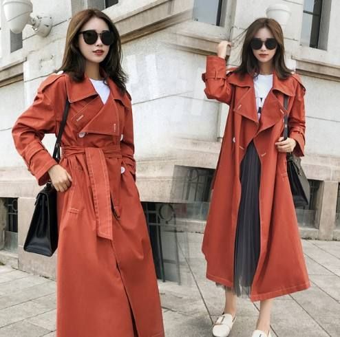 custom made ladies Long Trench coats top brand windbreaker Trench