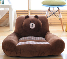 200cm plush stuffed bear animal lazy sofa for kids rest/factory direct plush cat sofa big cushion bed toy/plush bear sofa bed