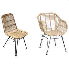 TW8711 Morden and Fashion beige color PE plastic Rattan Wicker Dinning Chair indoor and Outdoor Metal Rattan Chair