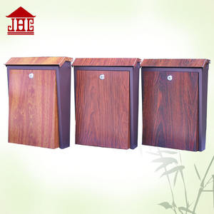 JHC-2010W Wooden grain wall mounted mailbox/lightweight mailing box/steel wall mounted mailbox