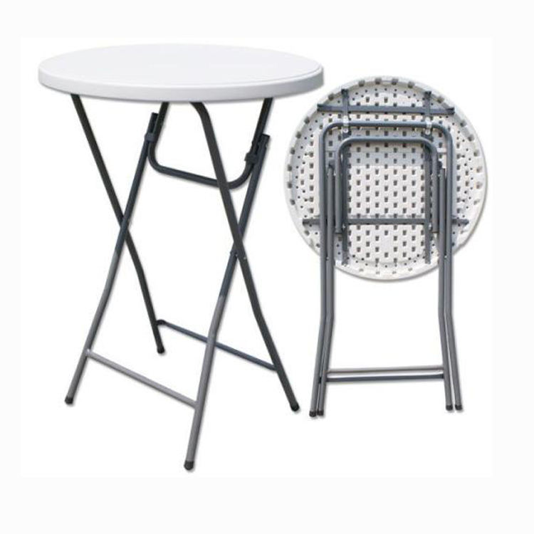 80cm plastic folding round relaxing bar height table
