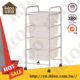 new premium home office storage 4 tier white Salon Storage Trolley