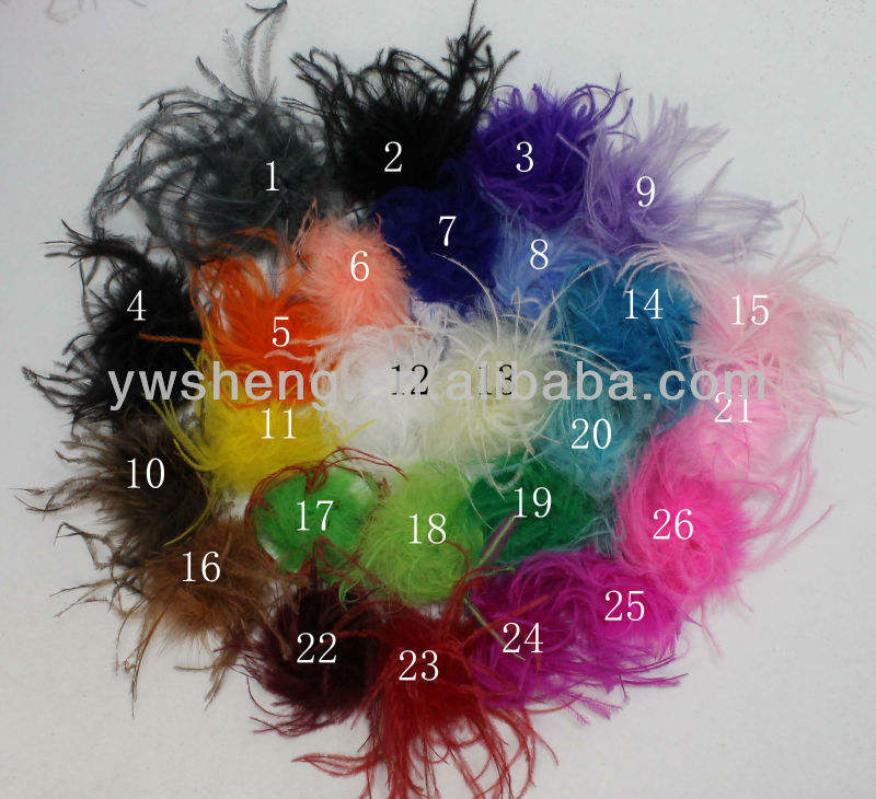 Beautiful full ostrich puff ostrich feather for garment decoration