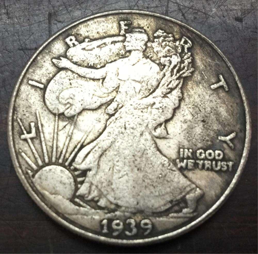 3 Coins All Three Mints Circulated Very Good 1939 P D S Walking Liberty Half Dollars