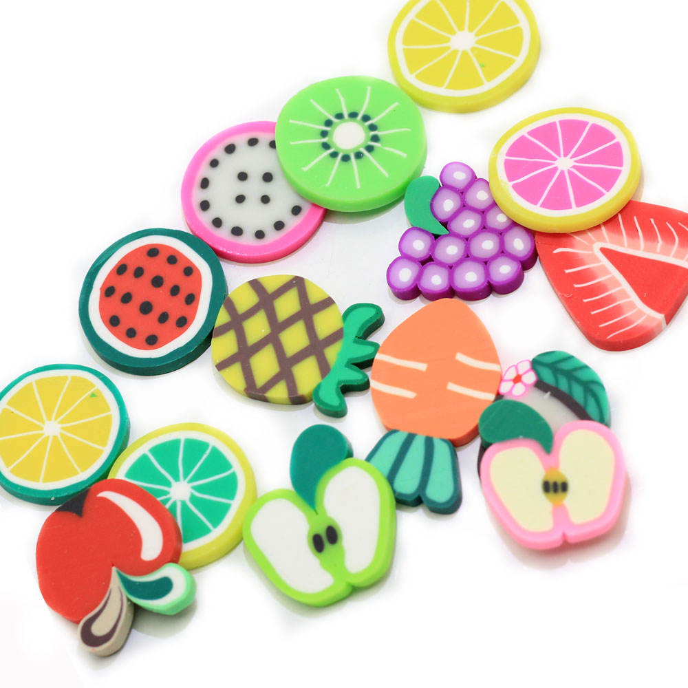 3D Nail Art 20mm Large Fruit Polymer Clay Slice For Jewelry Nail Decals Decorations