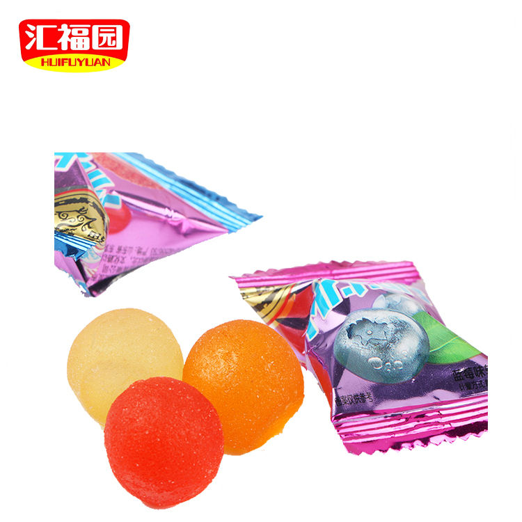 Cheap price fruity soft ball shape candy