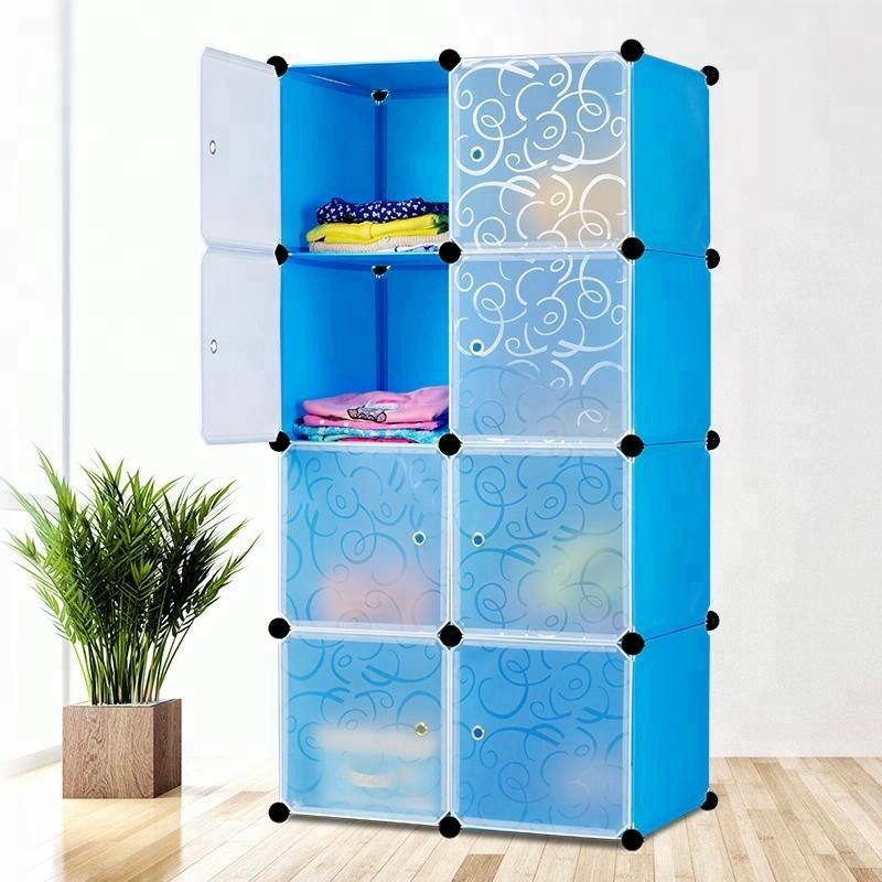 Hot-selling DIY plastic wardrobe, modern clothing storage cabinet with huge space