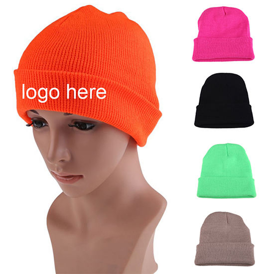 High Quality Colorful Unisex Knitted Beanie Cap Custom Beanie Hat